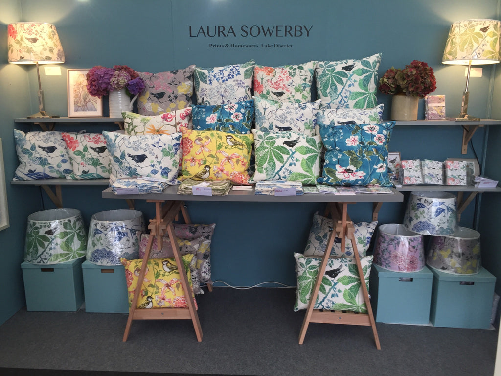 Laura Sowerby show stand at the Kirsty Allsopp Hampton Court Palace 'Handmade Fair'