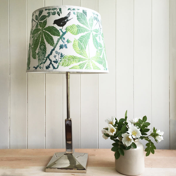 Lampshade with Linoprint design of Horse Cleaveshestnut