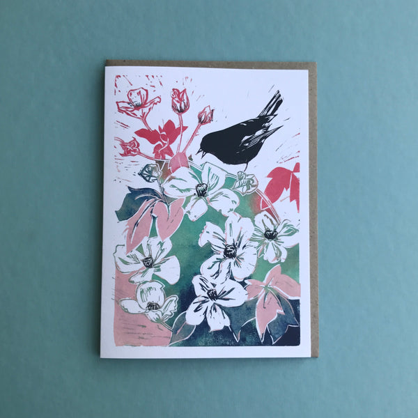 Chattering Bird Greetings card available online