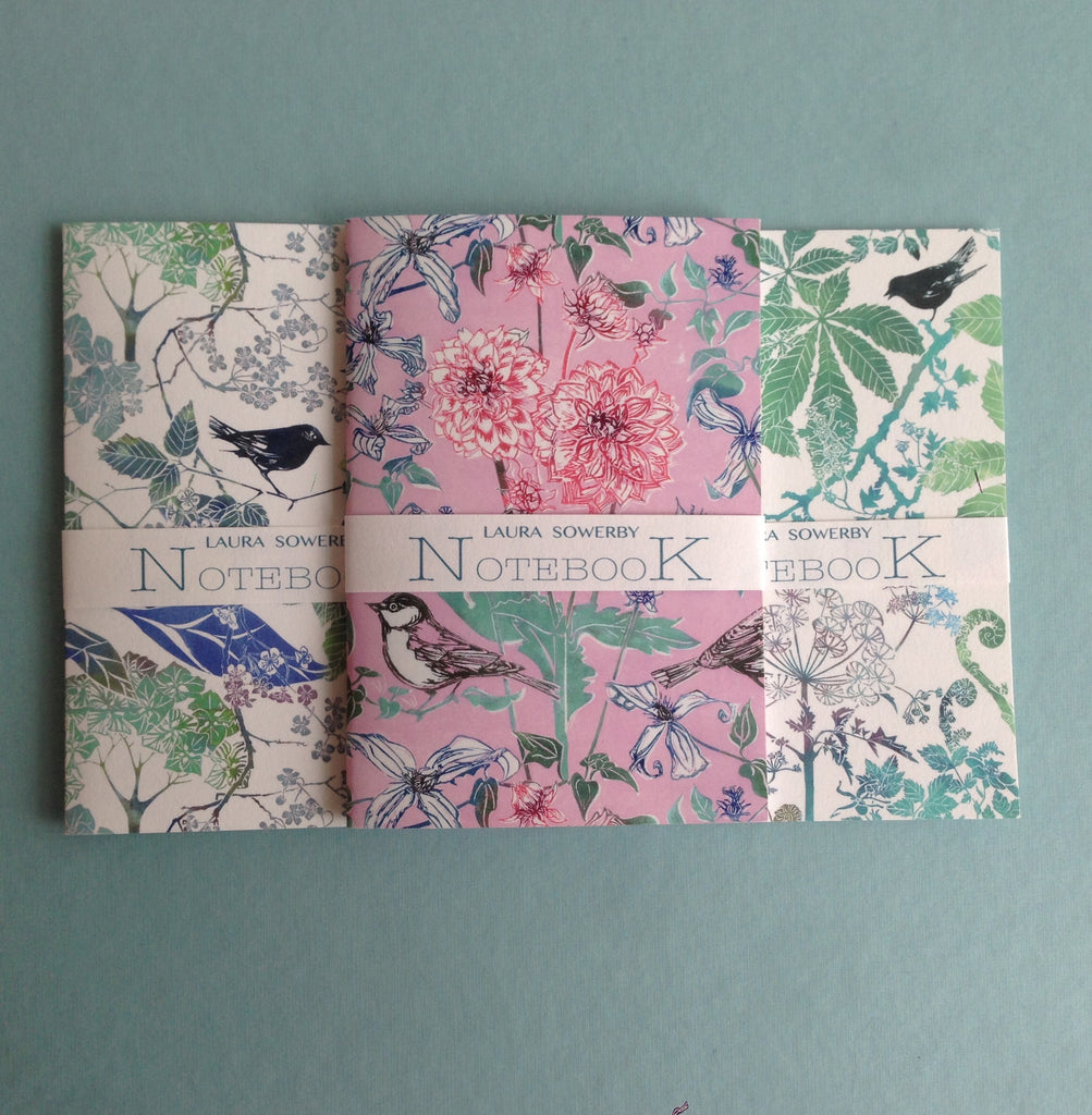 SET OF THREE NOTEBOOKS - COOL SHADES