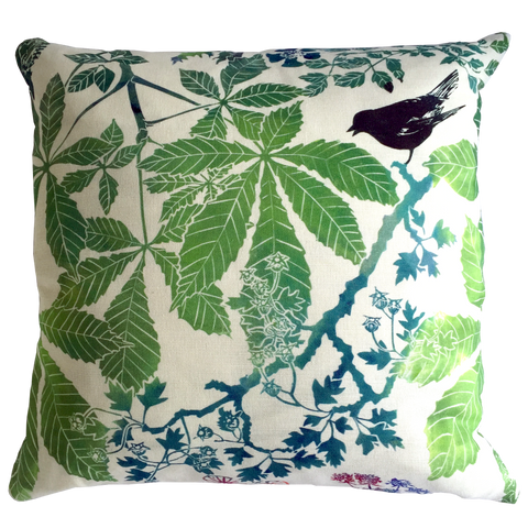 HORSE CHESTNUT CUSHION - PURE LINEN