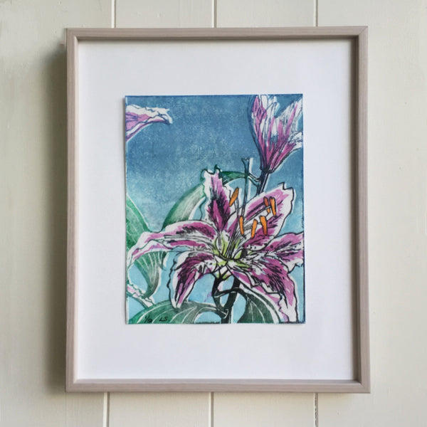 Colour Woodblock Print by Laura Sowerby