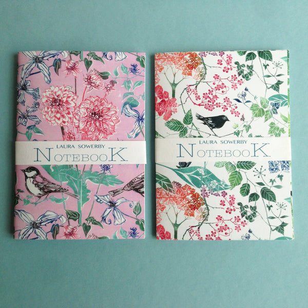 SET OF THREE NOTEBOOKS - HOT SHADES
