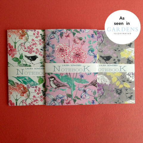 Laura Sowerby notebooks as seen in Gardens Illustrated Magazine