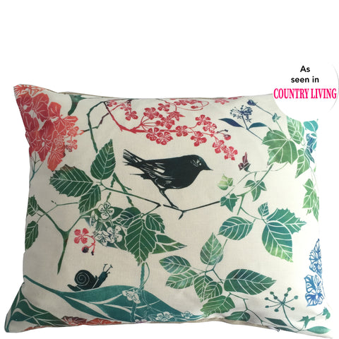 as seen in Country Living Magazine Laura Sowerby linen cushion