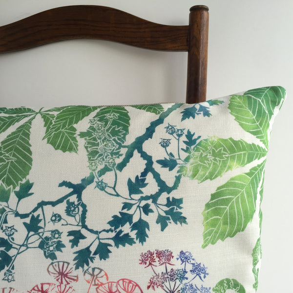 UMBELLIFERS CUSHION - PURE LINEN