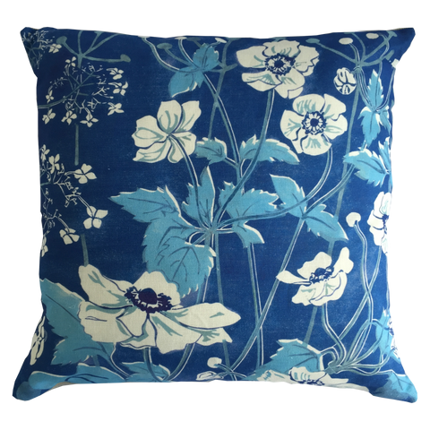 WIND FLOWERS CUSHION - PURE LINEN