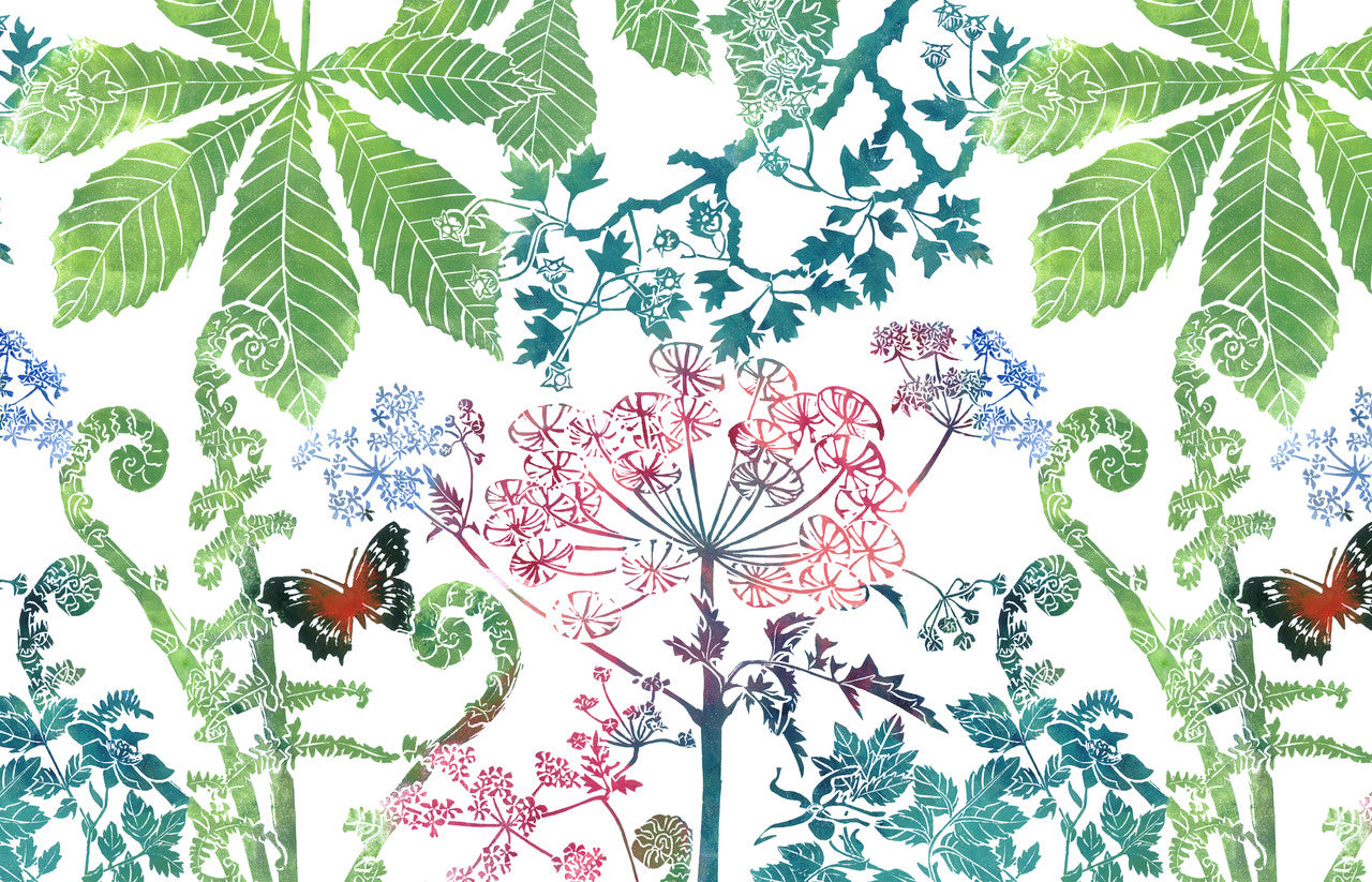 Linocut Wallcoverings from online store Laura Sowerby