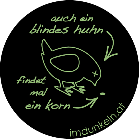 "Button ""Blindes Huhn"""