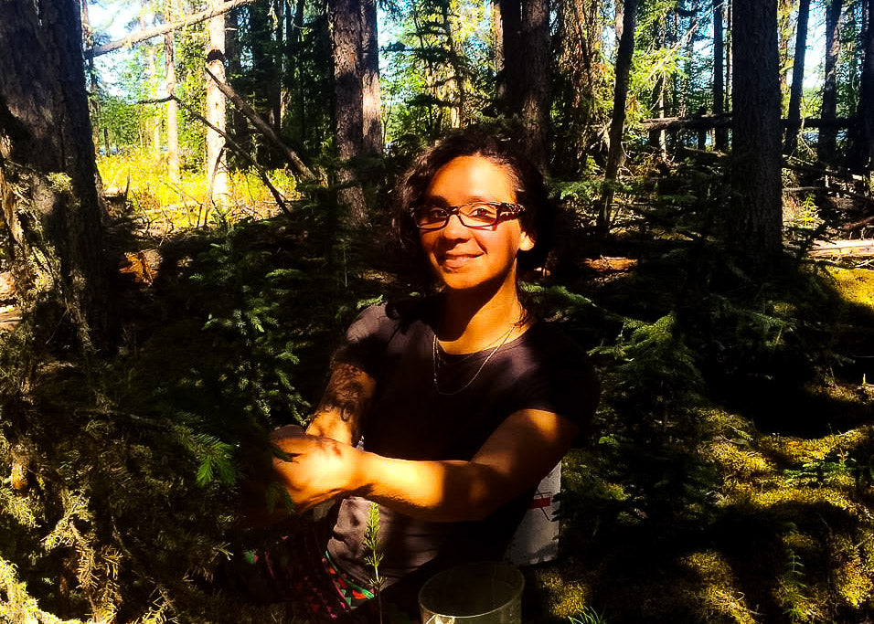 Celia Raquel Jimenez, owner of Cucamanga, spends her summers cooking for tree planters in the northern parts of Canada, allowing her to be closer to nature where she wild harvests ingredients for her Boreal Forest Line.