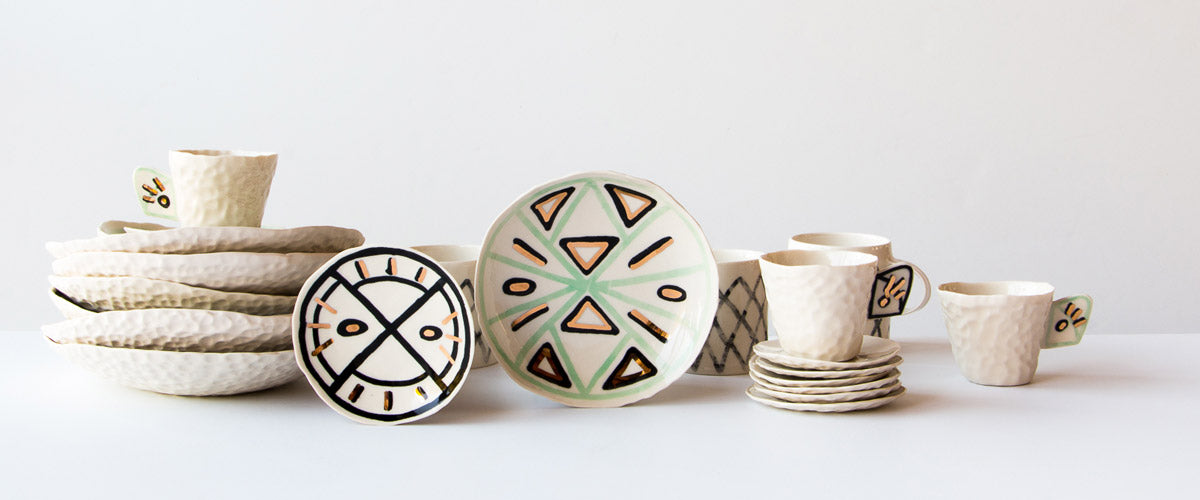 Browse a curated collection of modern handmade ceramics and porcelain  items from Cybèle B. Pilon.