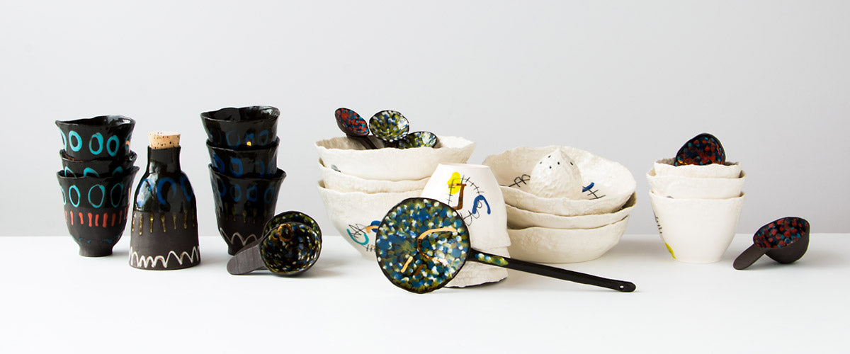 Browse a curated collection of modern handmade ceramics and porcelain items from Isabelle Simard.
