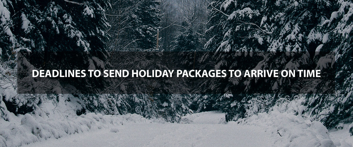 Deadlines to send holiday packages to arrive on time - Chic & Basta