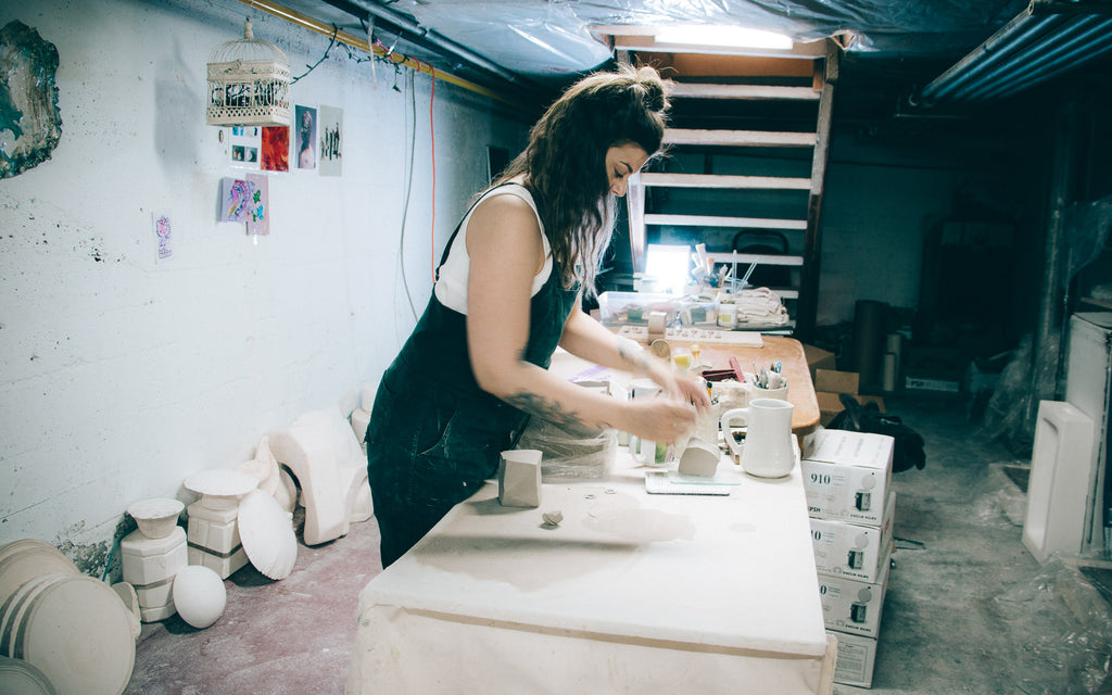 Marie-Eve Dompierre - Ceramics - View of the workshop.