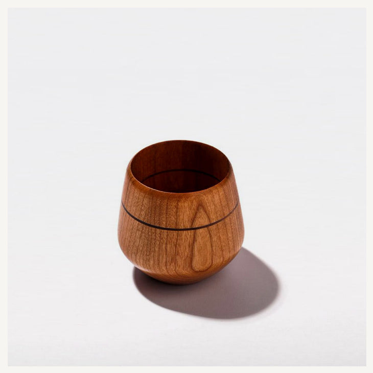 Espresso Cup in Cherry Wood - LILY