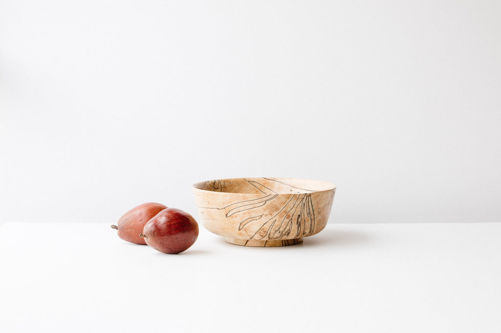 Pierre Chayer -  Turned Spalted Maple Wood Bowl