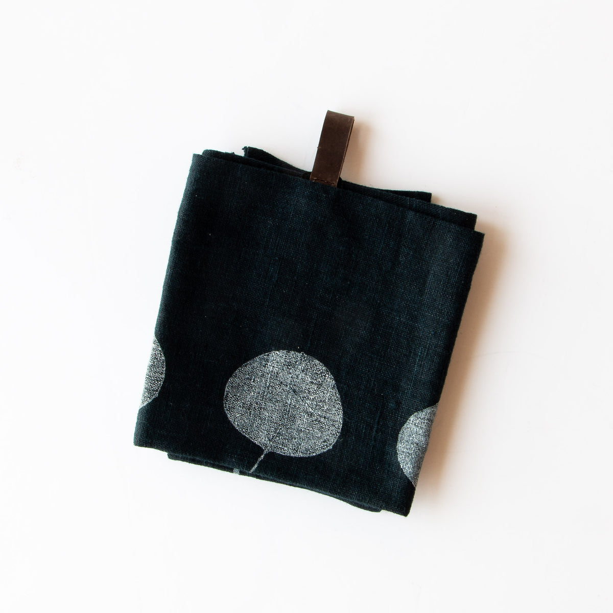 Five Times a Day - Folded Handprinted 100% Linen Dish Cloth / Hand Towel - Sold by Chic & Basta
