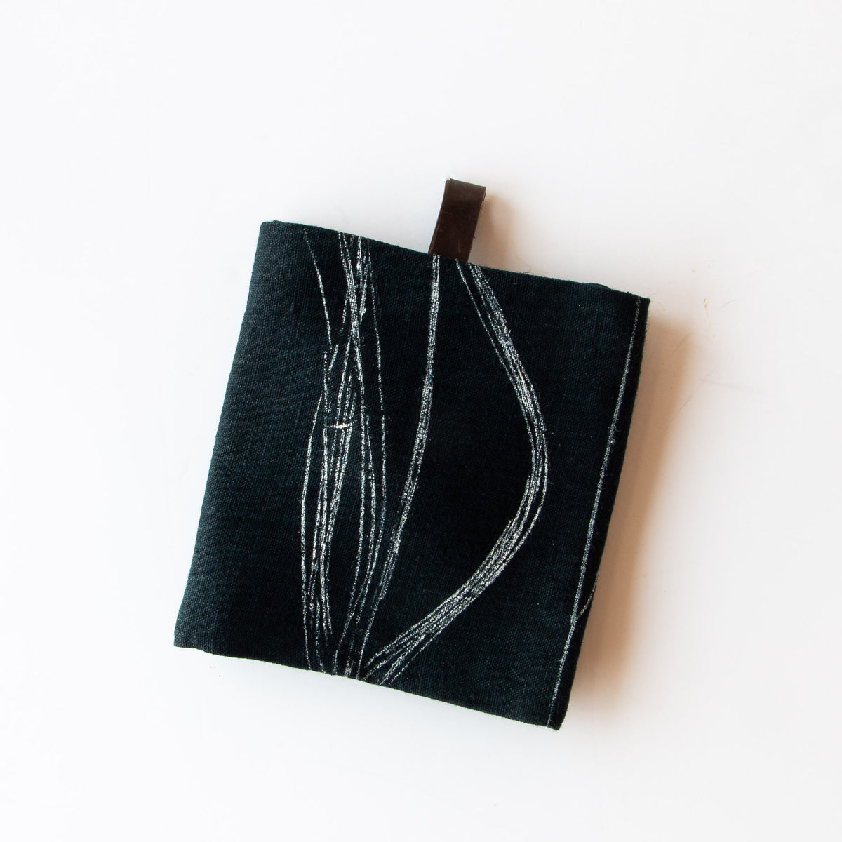 Weeds - Folded Handprinted 100% Linen Dish Cloth / Hand Towel - Sold by Chic & Basta