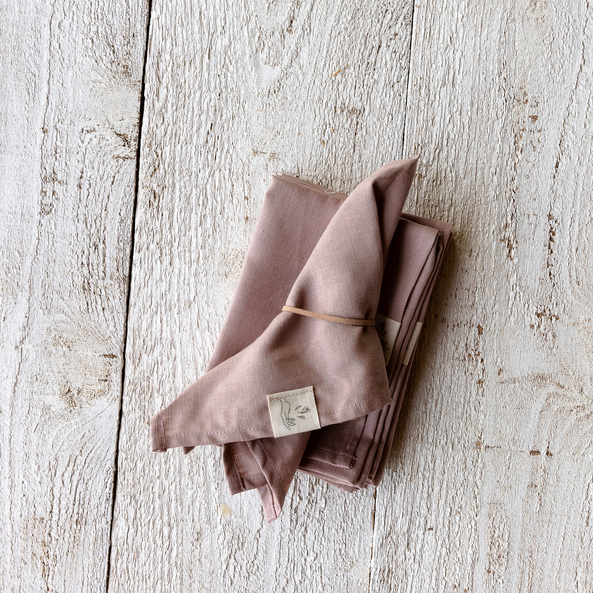 Old Pink - Handmade 100% Natural Linen Napkins  - Sold by Chic & Basta