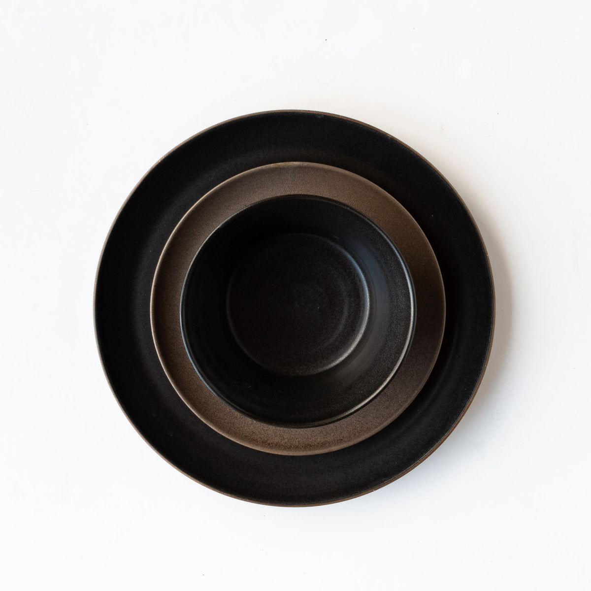 Handmade Grey Stoneware Dinnerware Set - Sold by Chic & Basta
