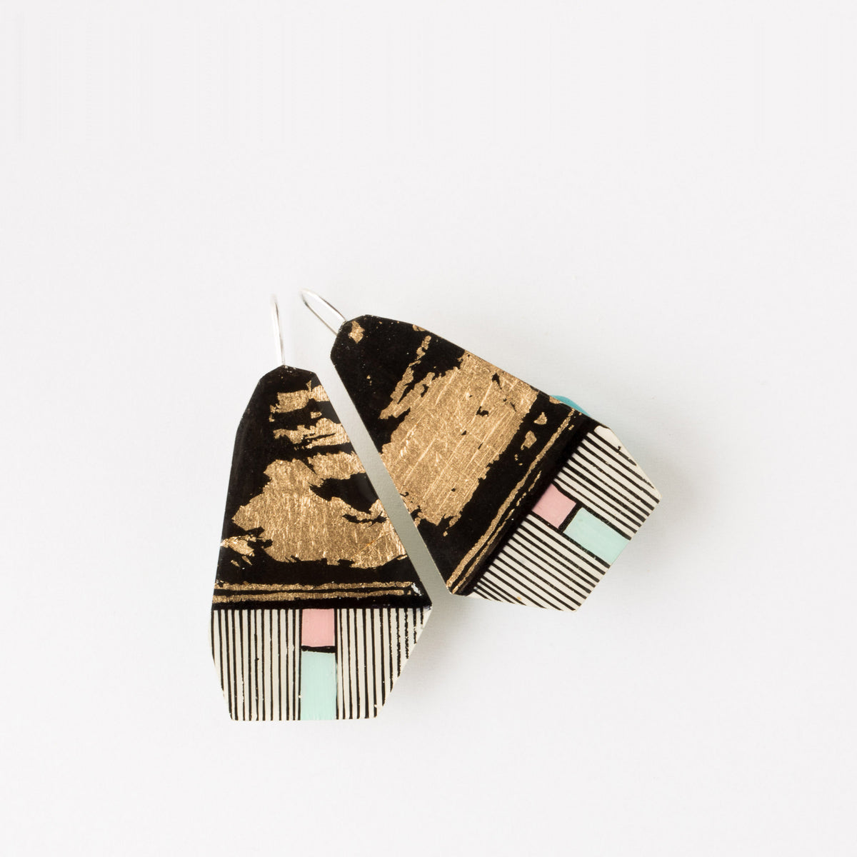 Top View - 589-2 - Hand-Painted Contemporary Earrings - Sold by Chic & Basta