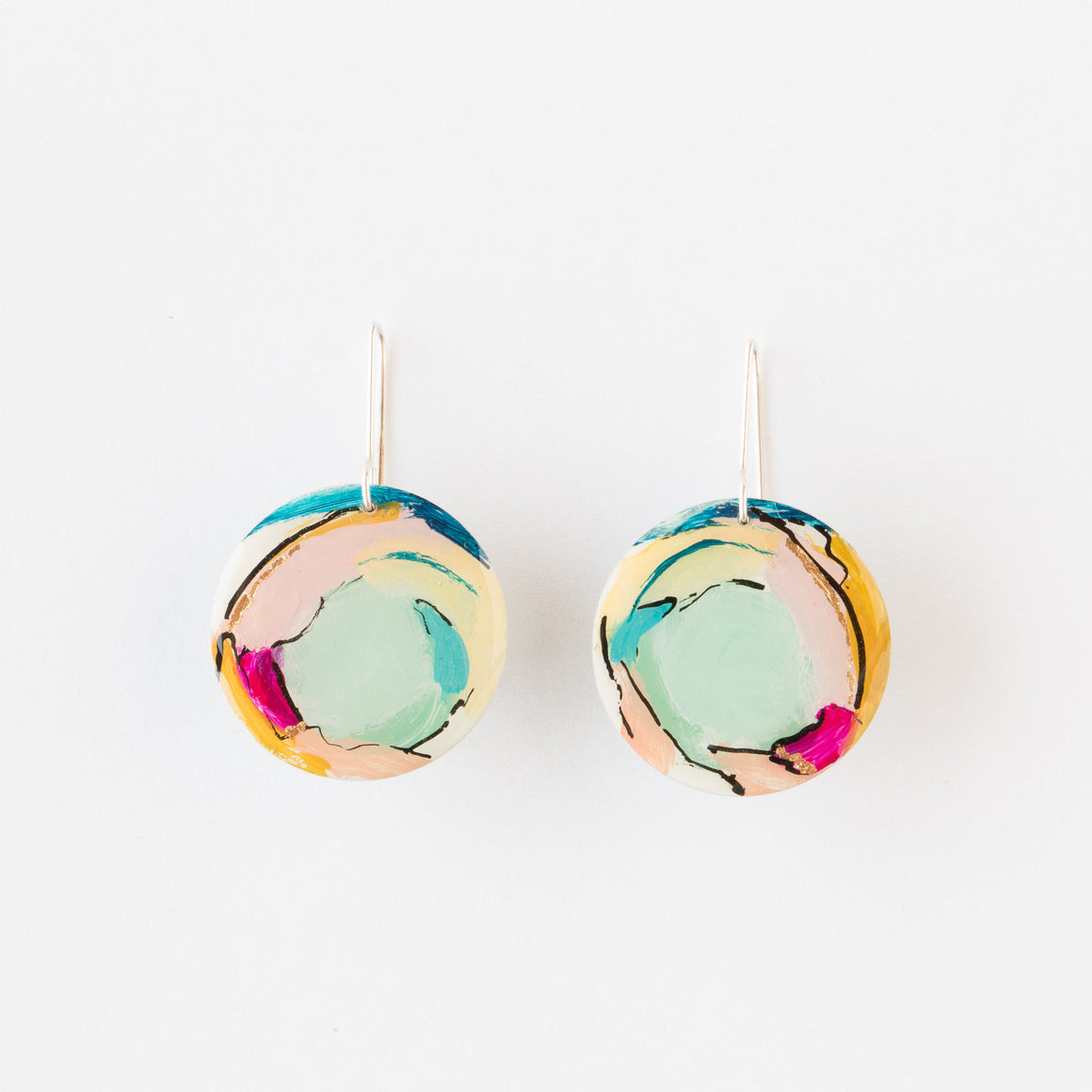 723 - Hand Painted Earrings