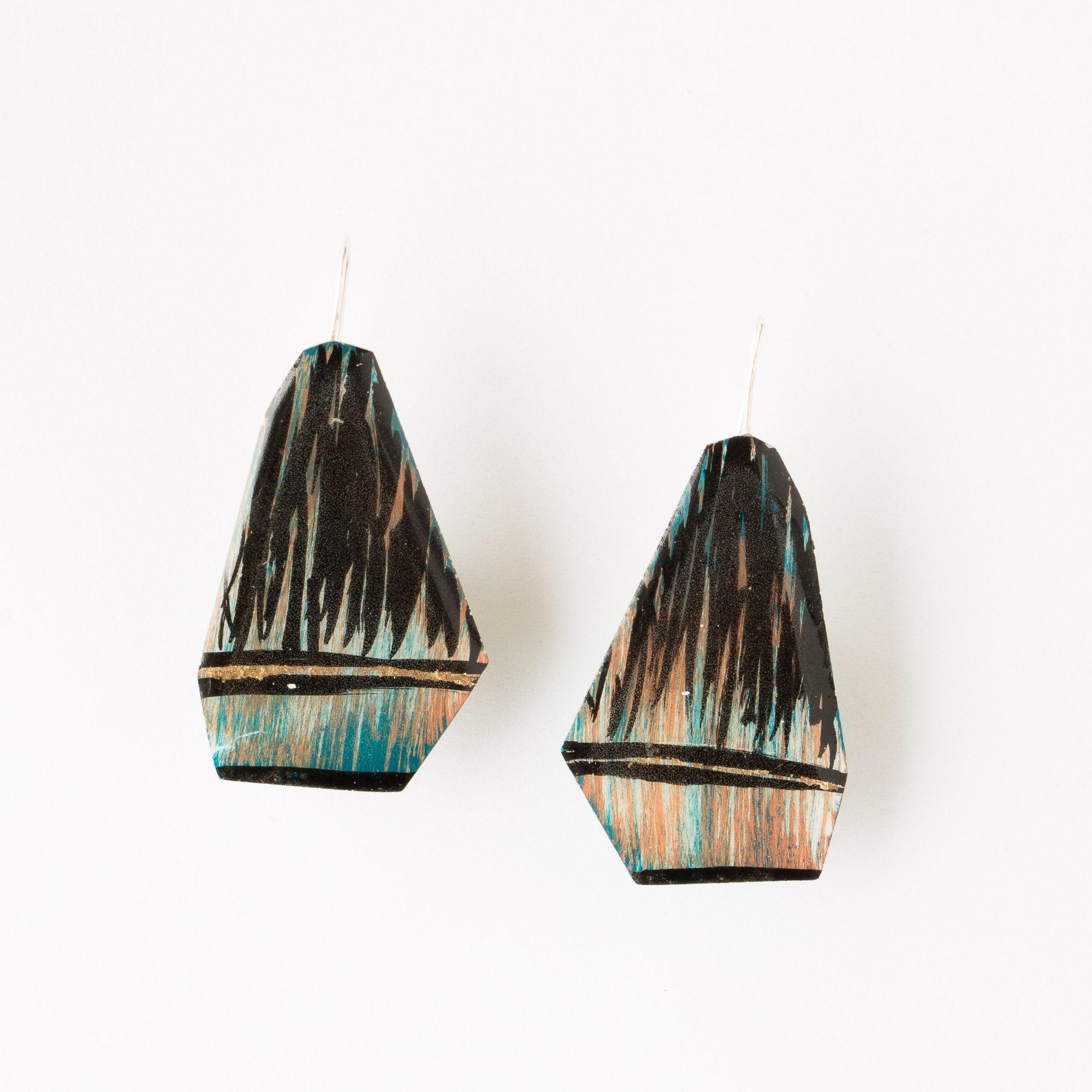 747 - Hand-Painted Contemporary Earrings - Sold by Chic & Basta