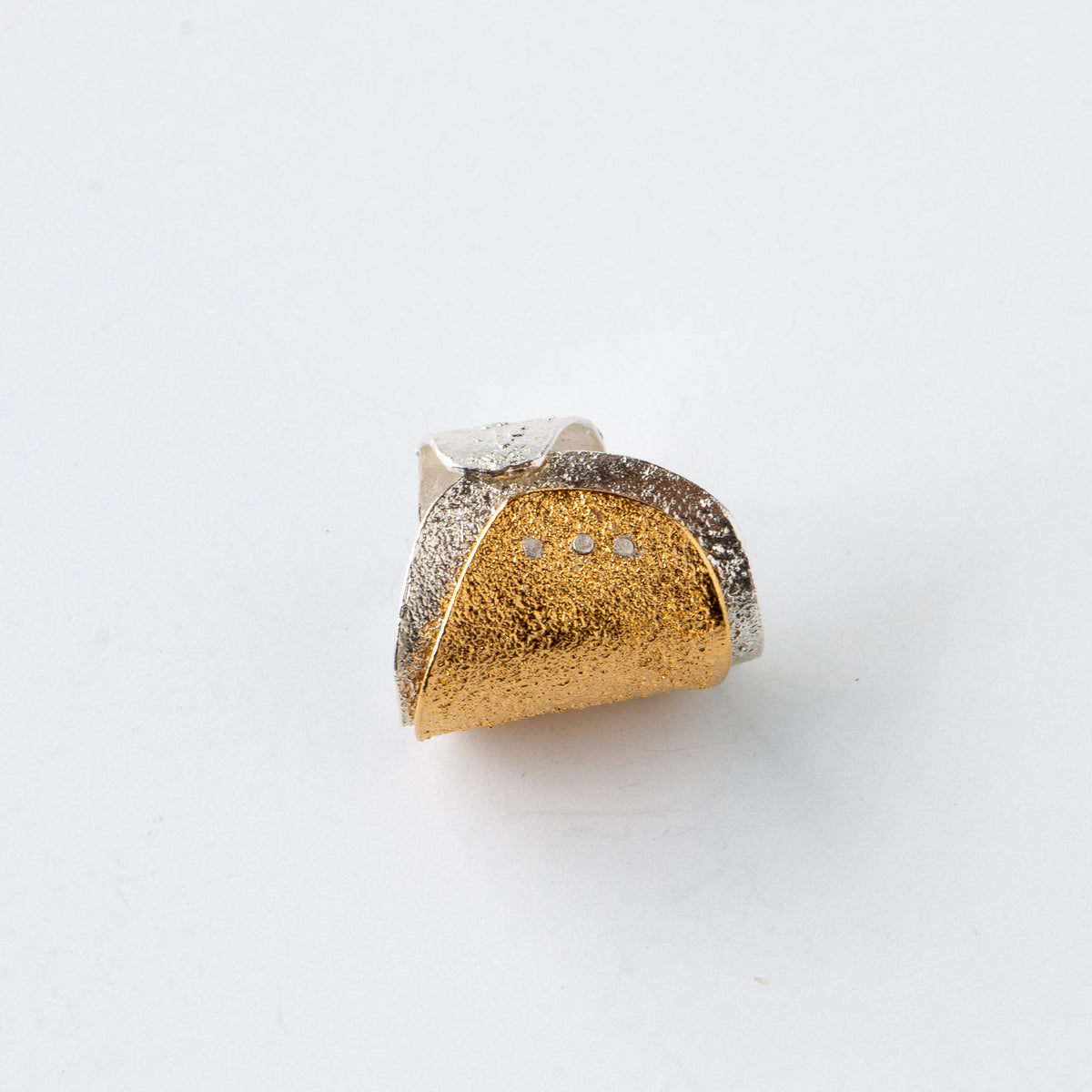 Acera - Adjustable Gold Plated Silver Ring - Sold by Chic & Basta
