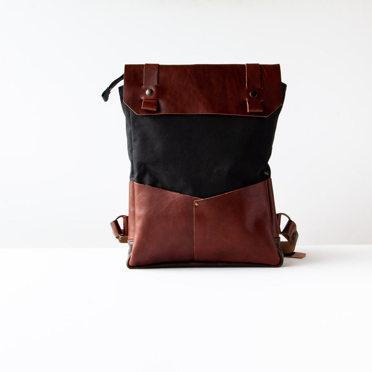 Andes - Handmade 15 Inch Laptop Backpack - Leather & Waxed Cotton - Sold by Chic & Basta