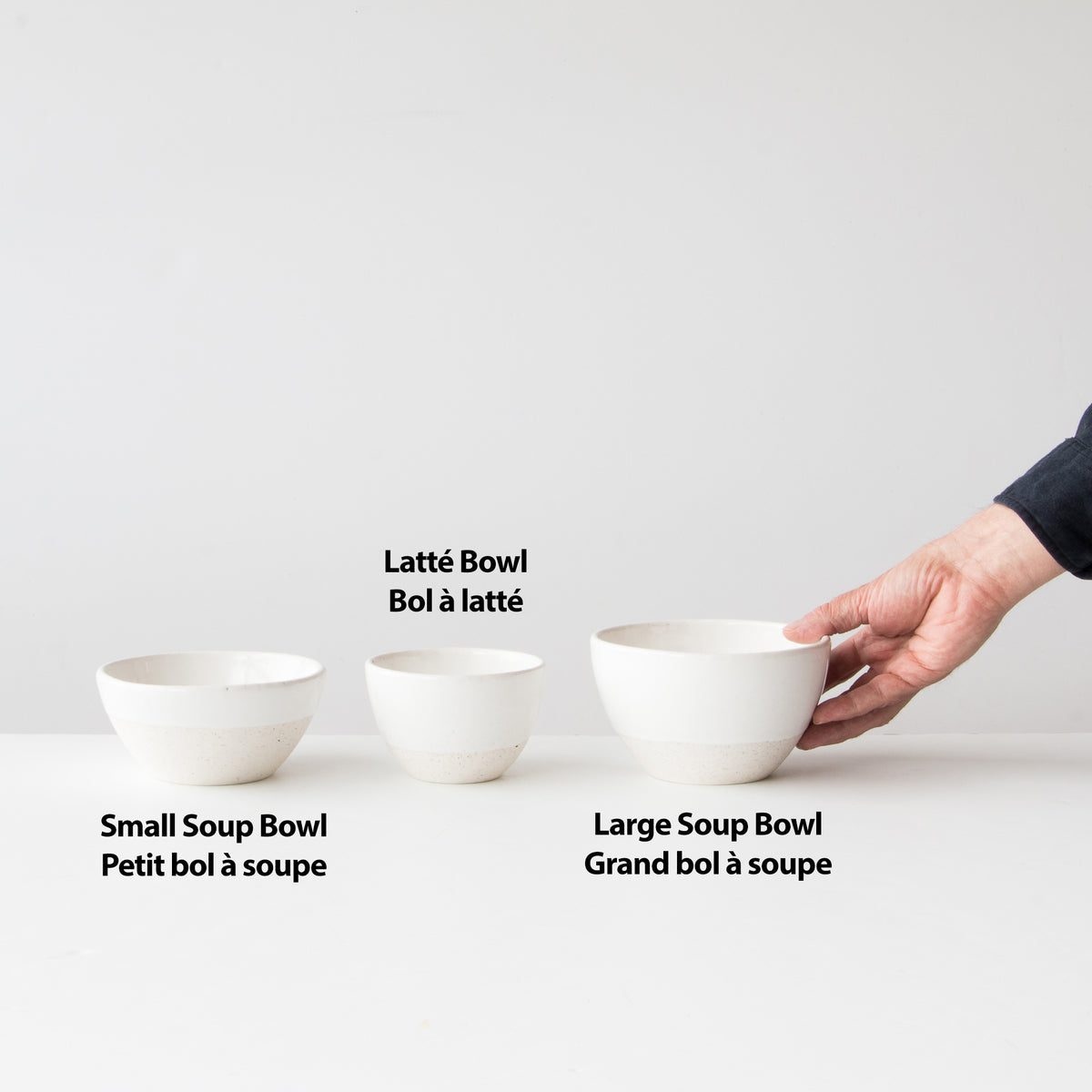 Atelier Trema Ceramic Bowls Shapes - Latté, Small Soup, Large Soupe Bowls