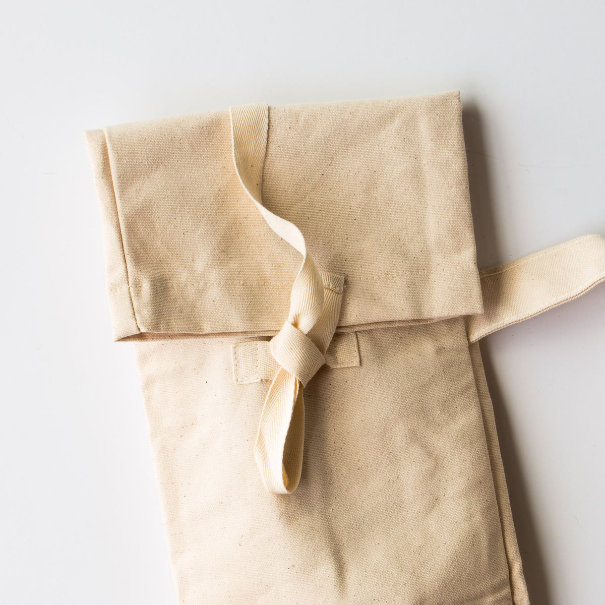 Closed Reusable Baguette Bag - Zero Waste 100% Cotton Bread Bag - Sold by Chic & Basta