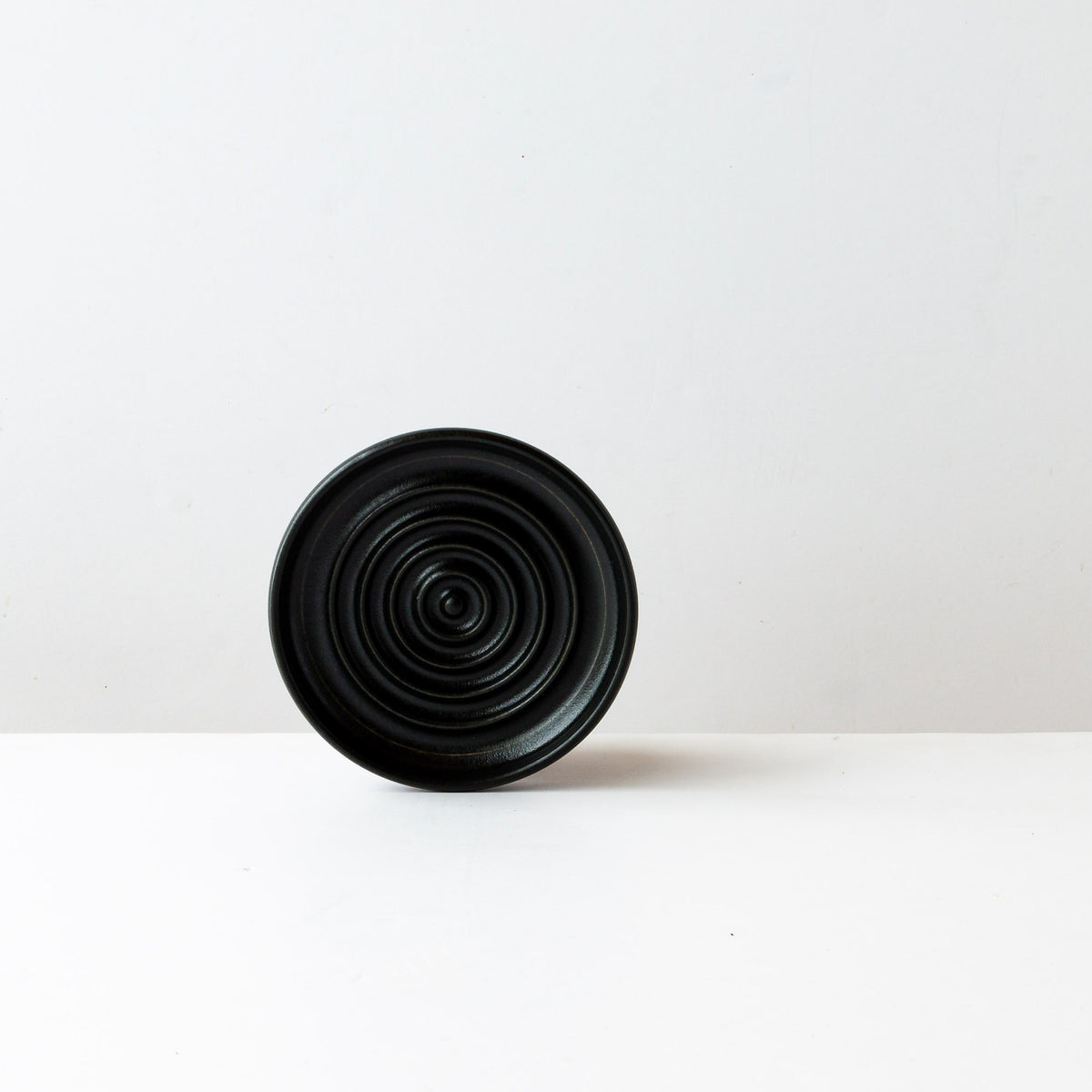 Black Satin Glazed Porcelain Soap Dish
