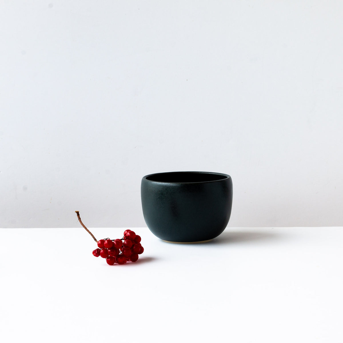 Black Satin Glazed Porcelain Soup Bowl - Sold by Chic & Basta