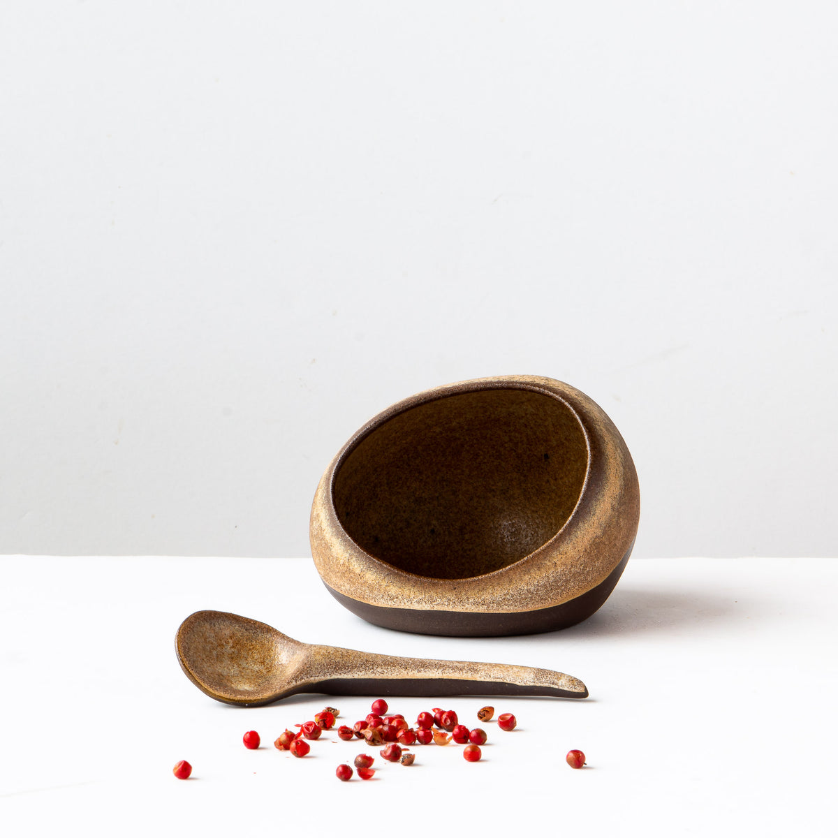 Salt, Pepper & Condiments Cellar & Spoon Set - Sold by Chic & Basta