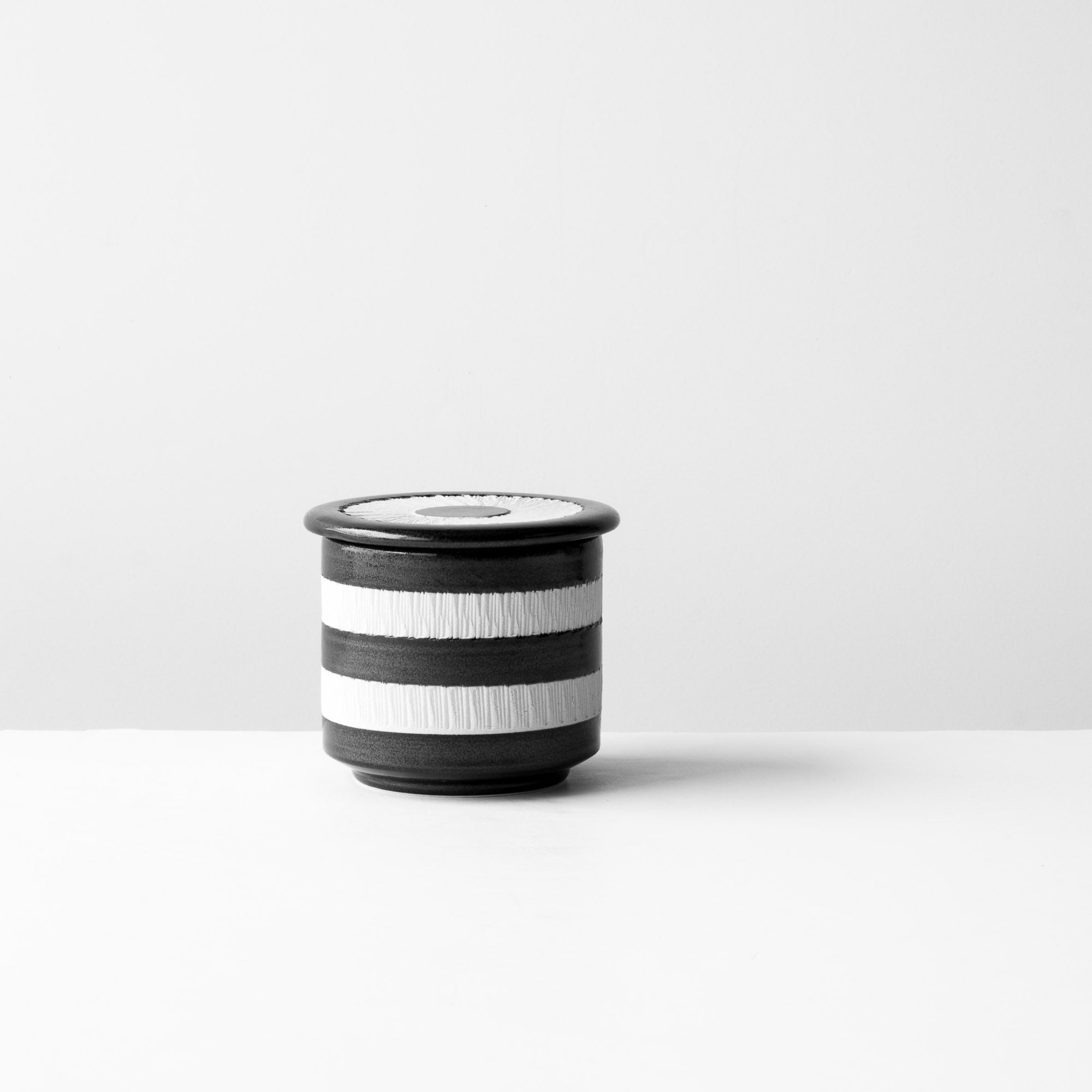 Black & White Handmade Porcelain Ceramic Salt Cellar - Sold by Chic & Basta