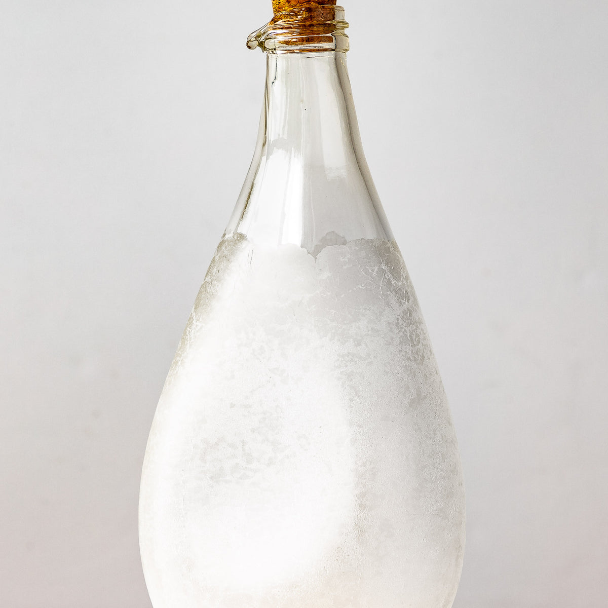 Detail - Latté Texture - Hand Blown Glass Oil Dispenser Bottle - Sold by Chic & Basta