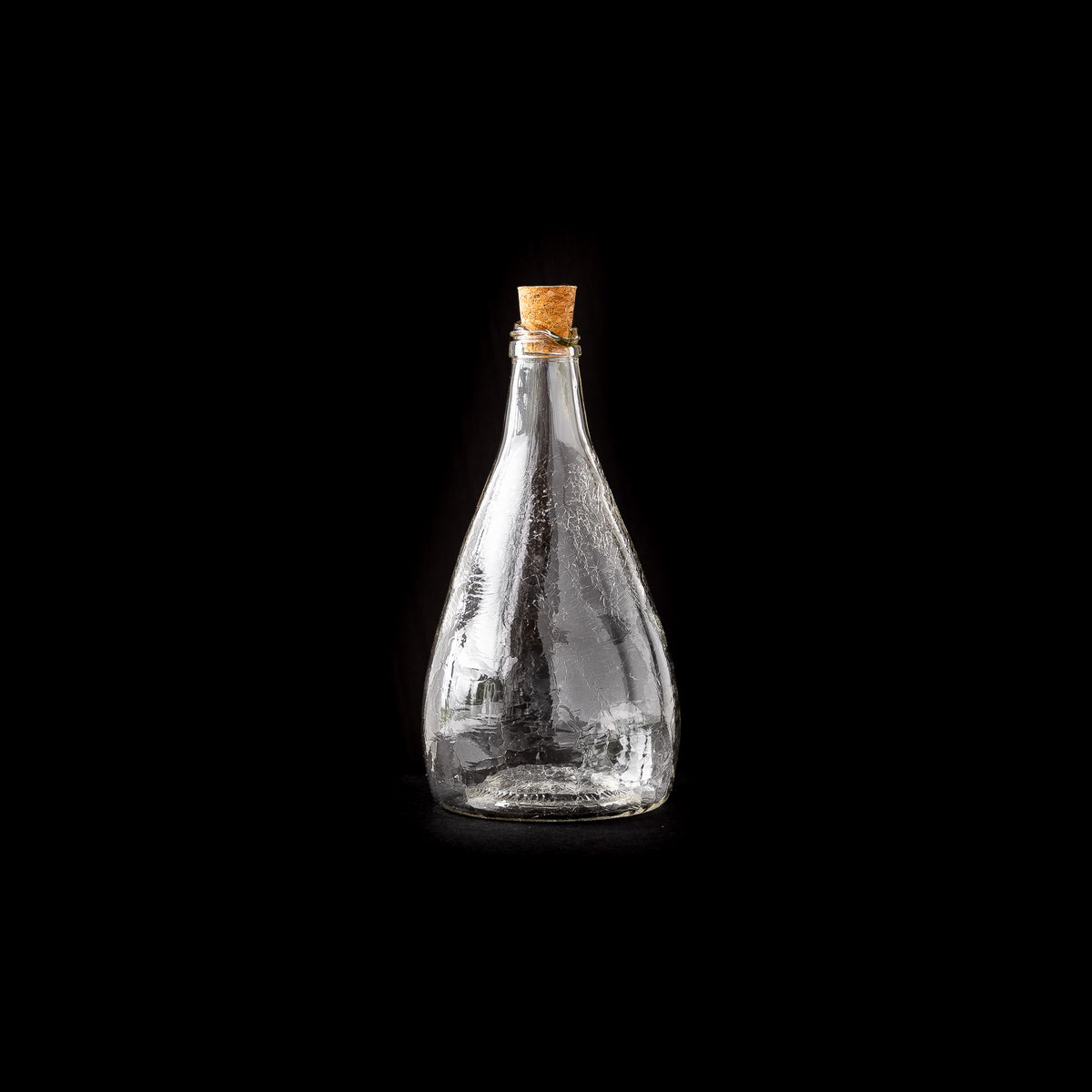 Blown Glass Maple Syrup Bottle - Crackled Texture - Sold by Chic & Basta
