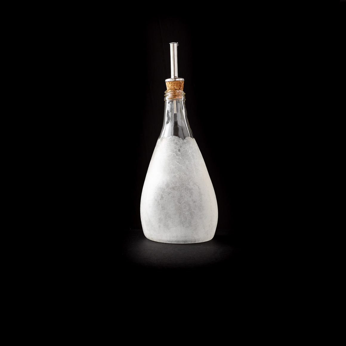 Crackled Texture - Hand Blown Glass Oil Dispenser Bottle - Sold by Chic & Basta