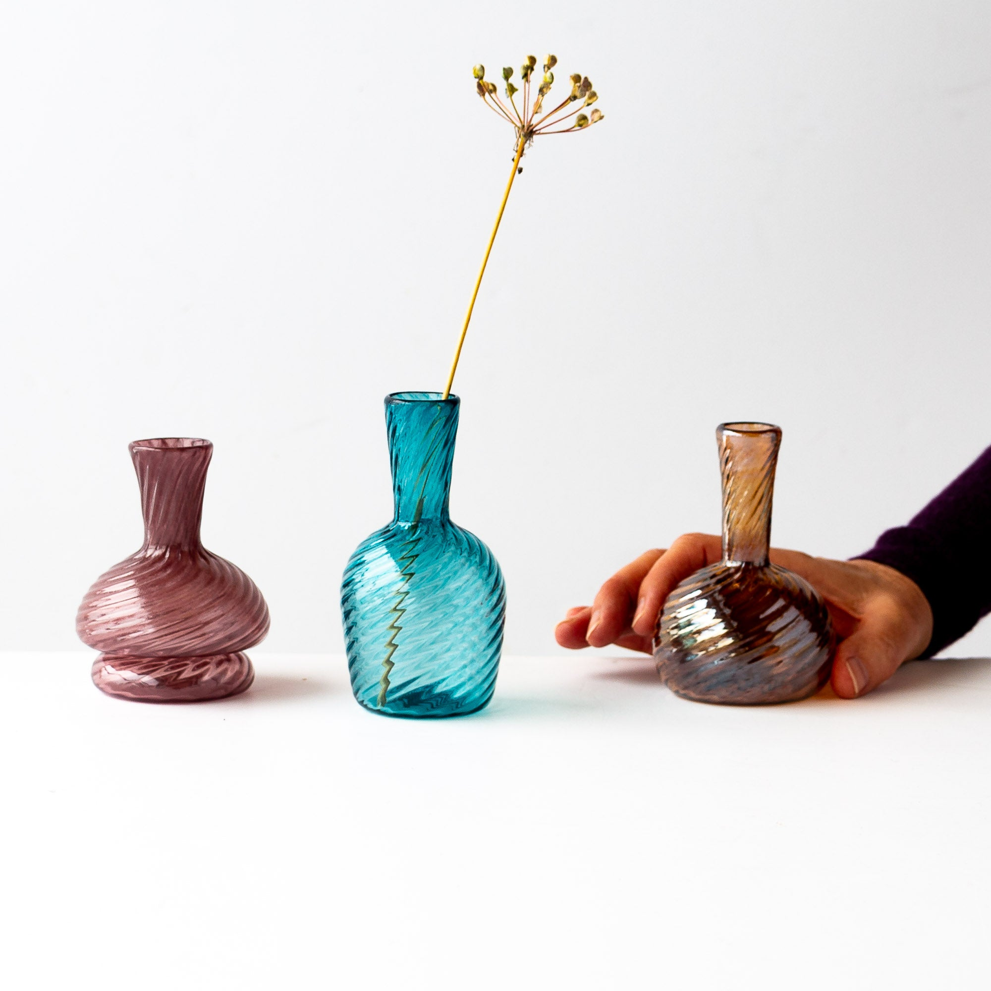 Blown Glass Single-Stem Bud Vases