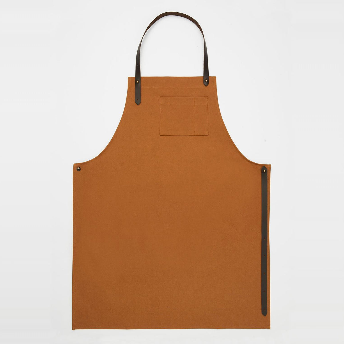 Handmade Unisex Camel Canvas & Leather Apron - Sold by Chic & Basta