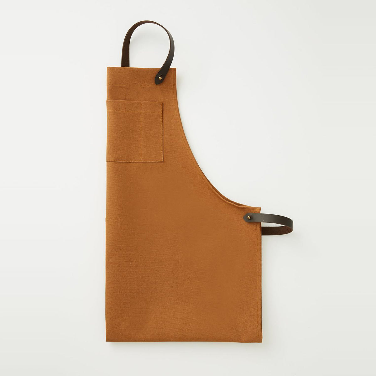 Handcrafted Unisex Camel Canvas & Leather Apron - Sold by Chic & Basta
