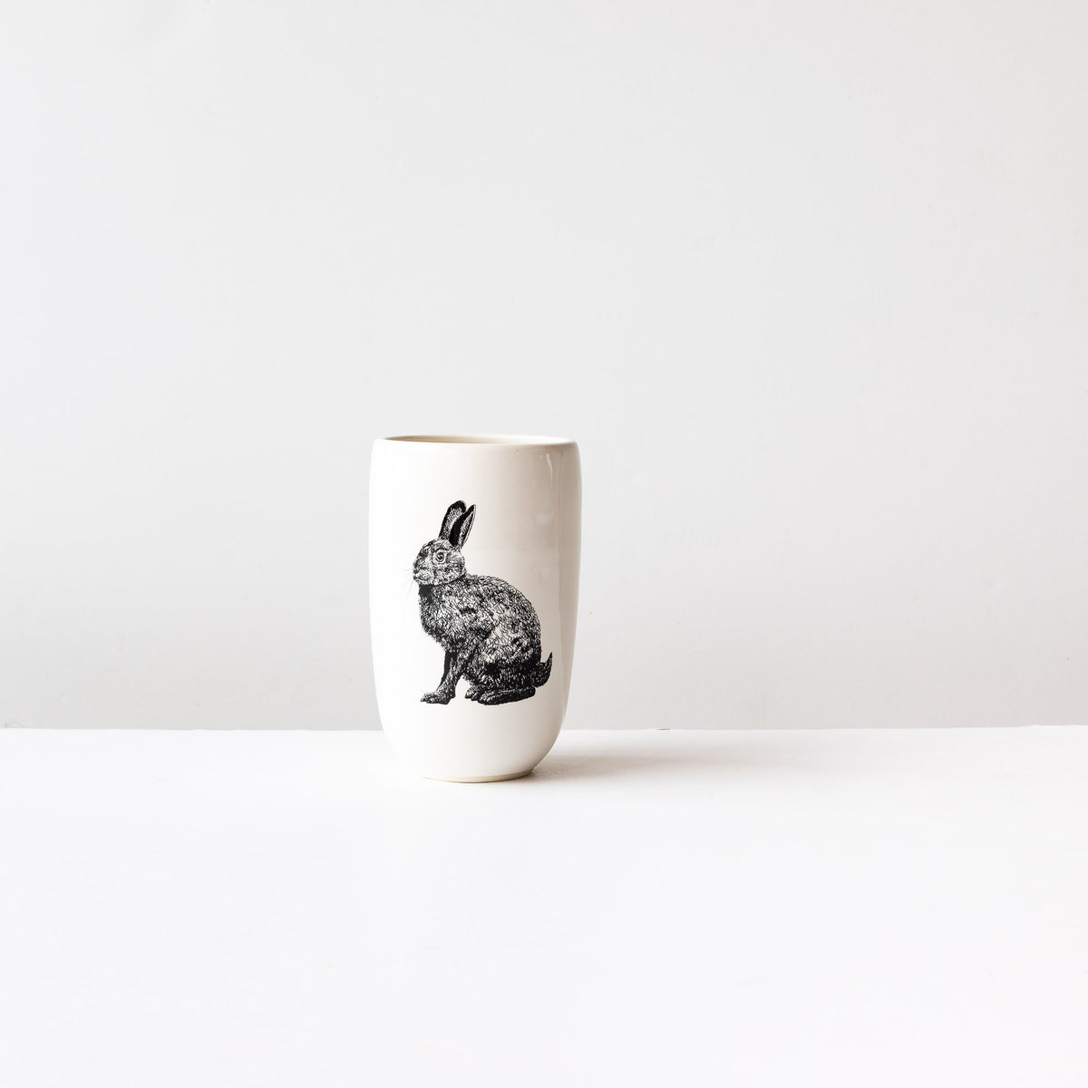Hare - Handmade Porcelain Beer Tumbler / Glass - Sold by Chic & Basta