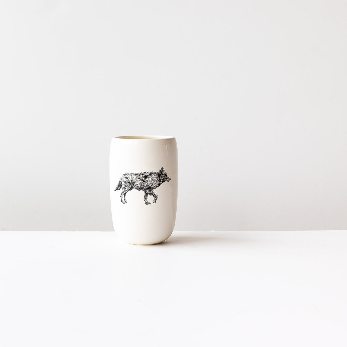 Coyote - Handmade Porcelain Beer Tumbler / Glass - Sold by Chic & Basta