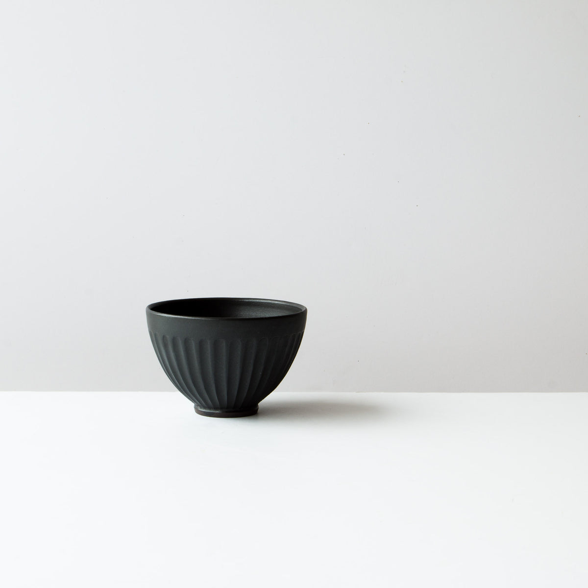 Black Colour - Handmade Ceramic Coffee Bowl / Latté Cup - Hand Thrown in Canada - Chic & Basta
