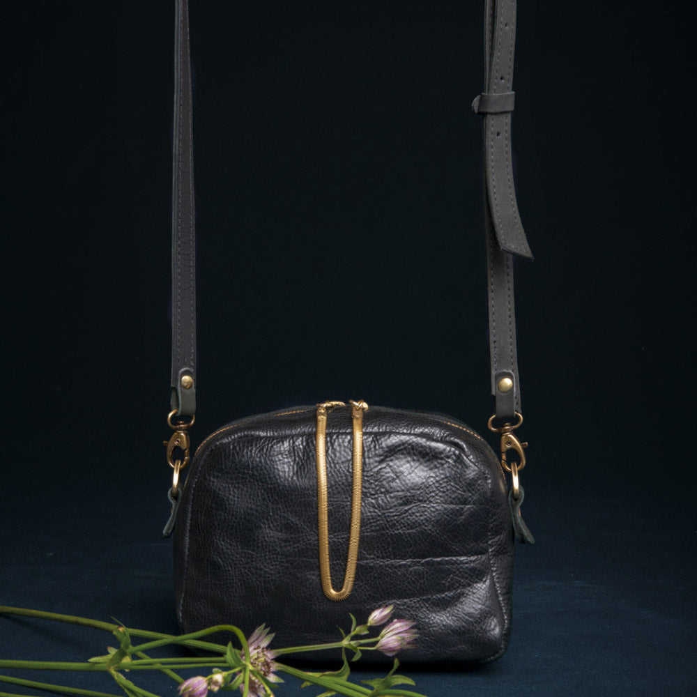 Cartier - Crossbody Bag - Handmade in Cowhide & Nubuck Leather - Sold by Chic & Basta