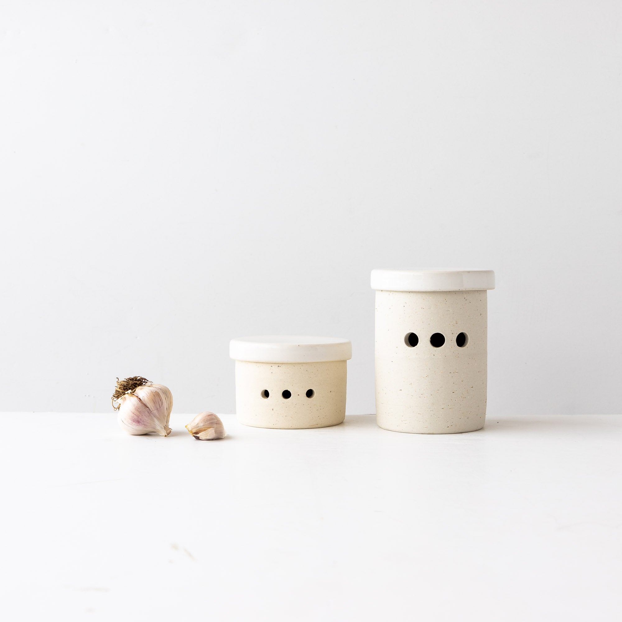 Small & Large Handmade Ceramic Garlic Keepers / Pots - Sold by Chic & Basta