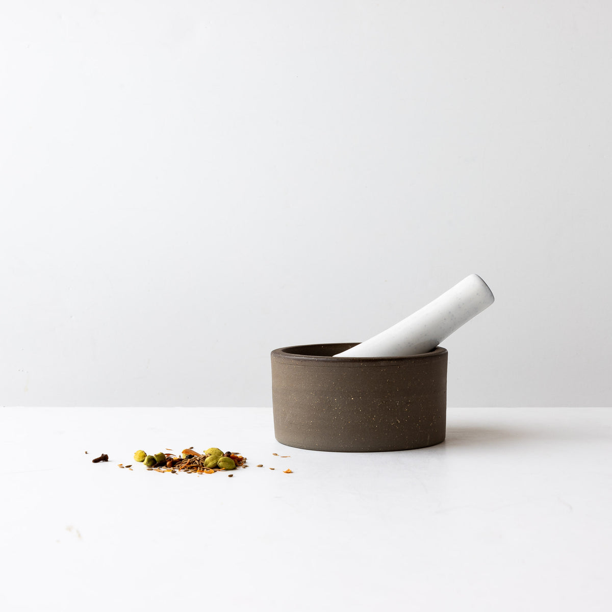 Handmade Contemporary Ceramic Mortar & Pestle Set - Sold by Chic & Basta