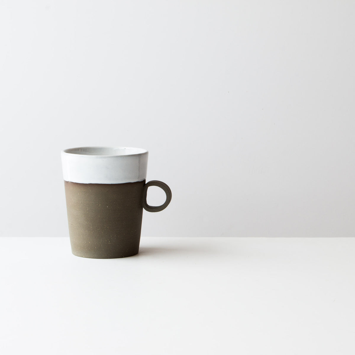 Handmade Very Large Mug in Grey Clay - Sold by Chic & Basta