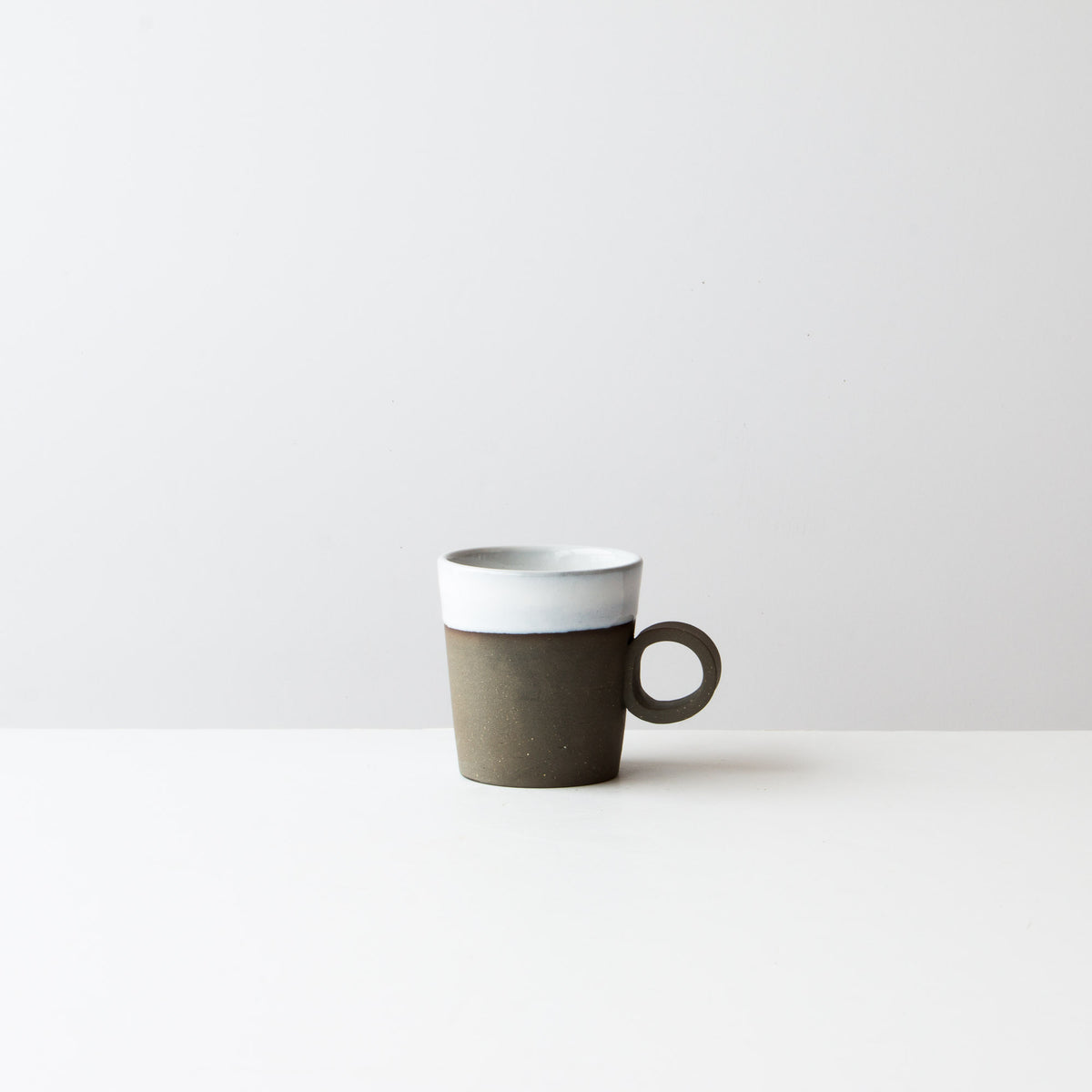 Handmade Ceramic Mug in Grey Clay - Sold by Chic & Basta