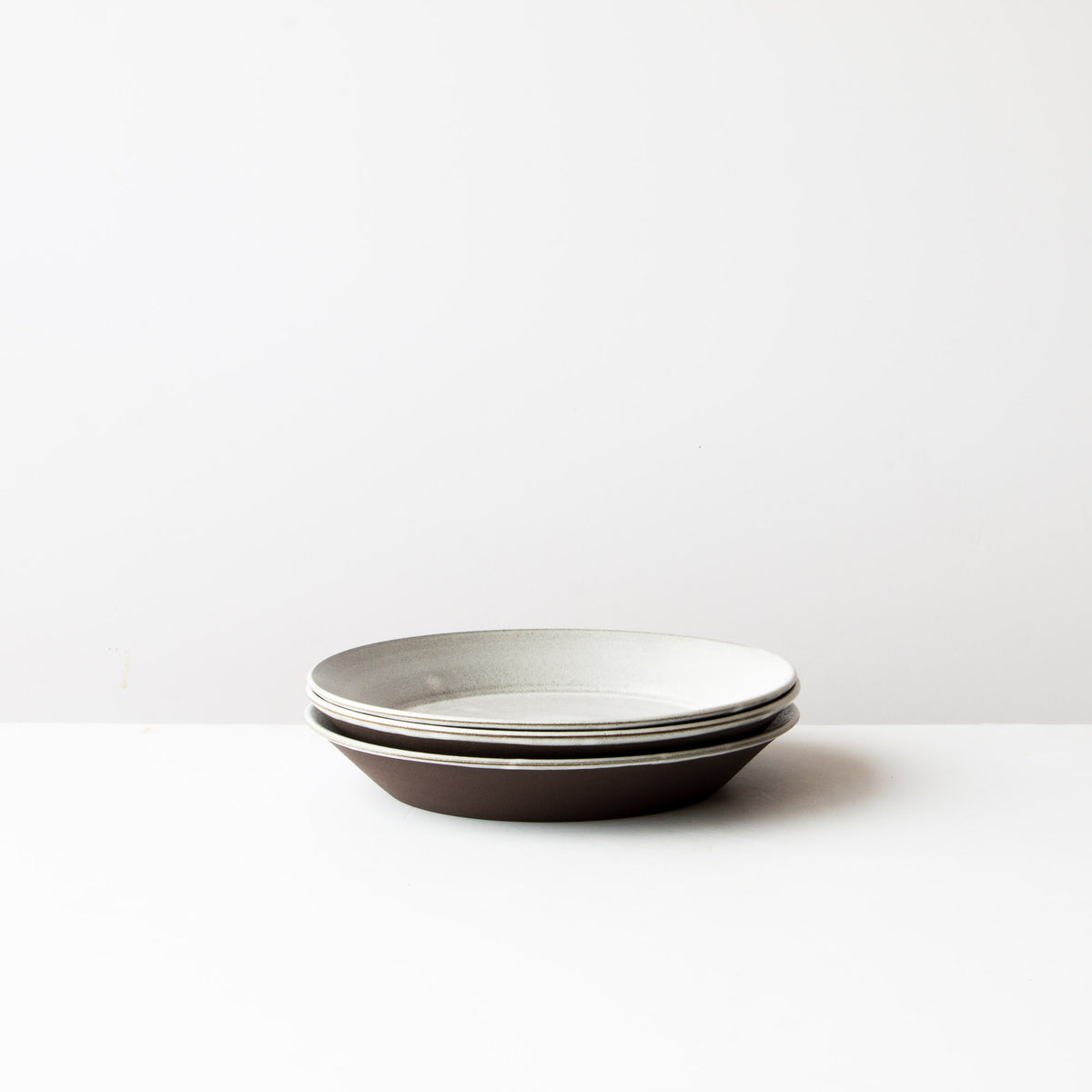 Side View - Three 9 Inch Handmade Ceramic Pie Plate / Pan Dish - Sold by Chic & Basta